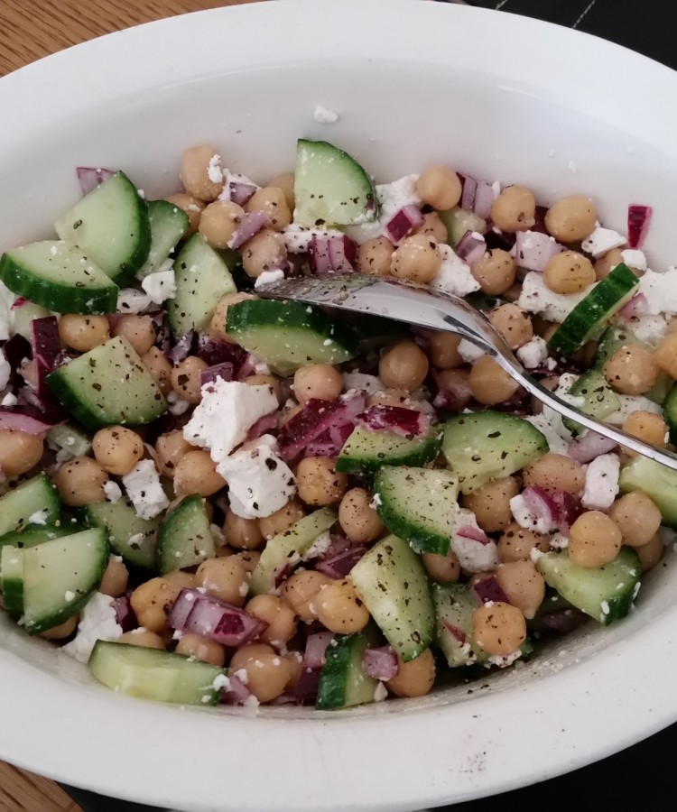 Greek-Style Chickpea Salad   Cheese and Chickpeas
