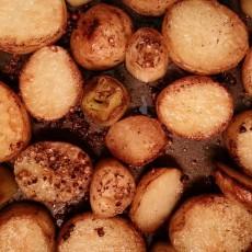 Leek Potato and Coriander Bake, cooked