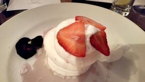 Vegan meringue stack
