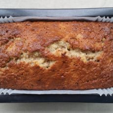 Use overripe bananas in banana and walnut loaf